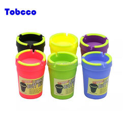 High Quality Extinguish Colorful Butt Bucket Car Ashtray