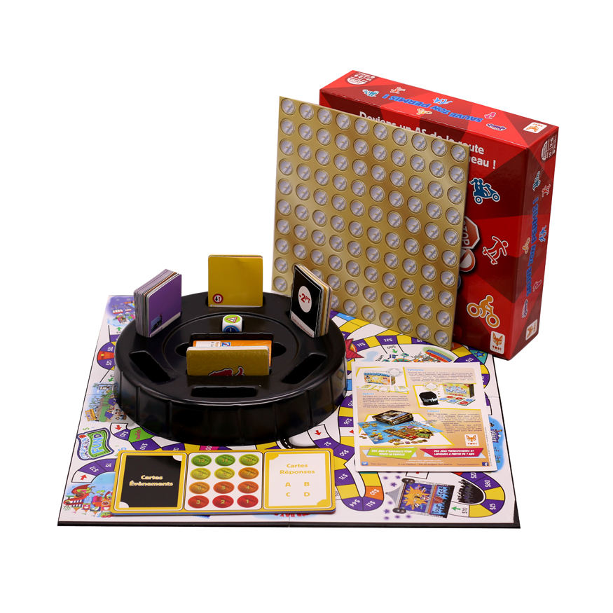 Custom Printing Paper Board Game Sets with Accessories for Entertainment Table Game
