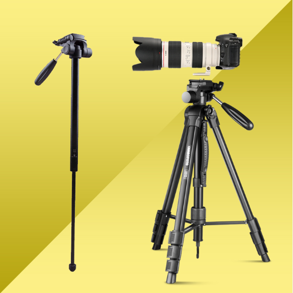 professional camcorder tripod stand aluminum camera tripod brands with carry bag