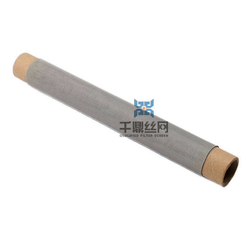 High temperature resistant Thermal Ductility plain woven 40 80 100 Mesh Nichrome knitted filter wire mesh