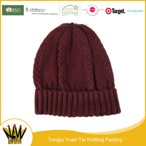 ヨーロッパスタイル最高裁アクリルニット冬の帽子ビーニー