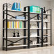 MDF Board and Stainless steel Frame Bookshelf/bookcase