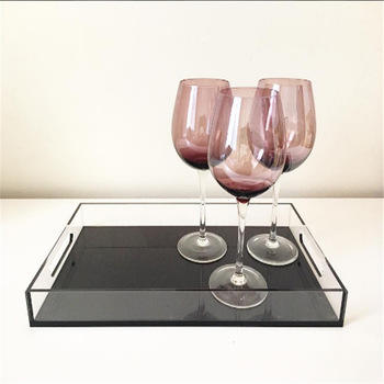 Online shopping Compact customized acrylic square wine plate tray
