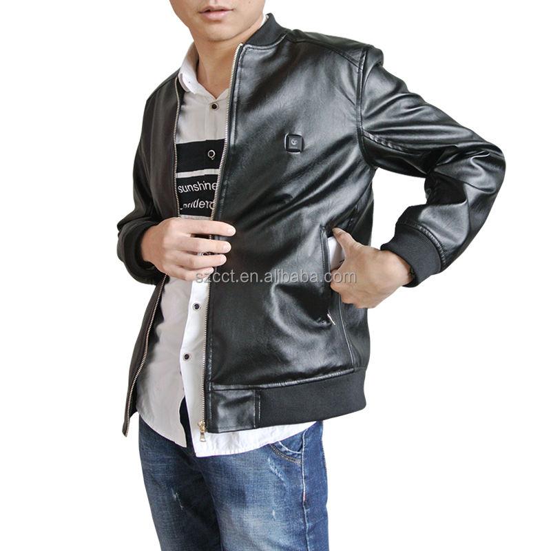 Mens Genuine Lambskin Leather Jacket Slim Fit Moto Biker Jacket T383