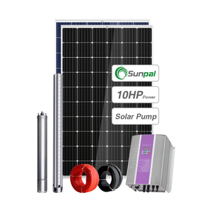 Residential Solar Water Pump System 10HP Stainless Steel Deep Well Borehole Solar Pump Set