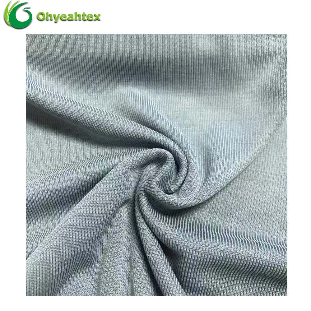 Toothpick Lining Cotton Modal Polyester Interlock Fabric