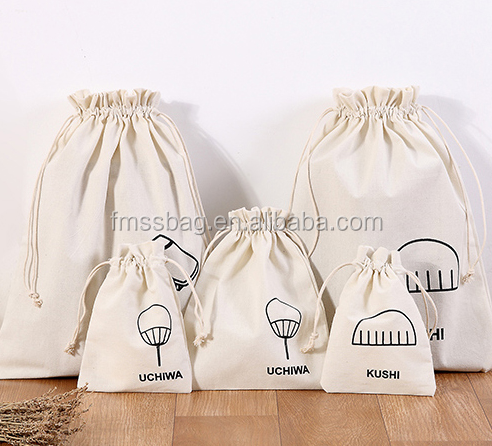 Personalized Colorful canvas cotton drawstring bag with double string