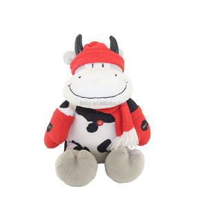New Design Wholesale Recording Function Cow Plush Animal Toy Boxing Ox For Holiday Gift