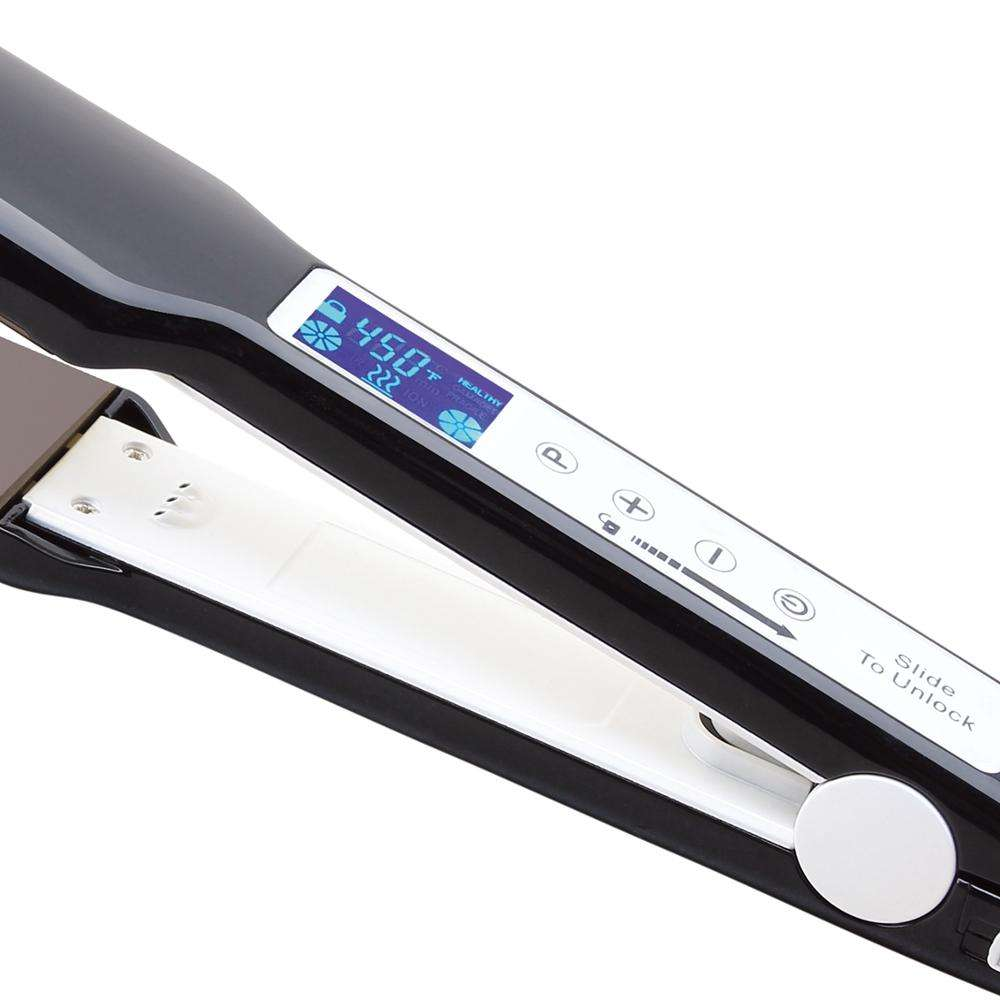 High Quality Professional LCD display hair styler fast heating flat iron ceramic salon hair straightener