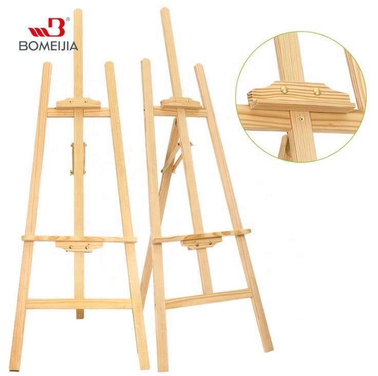 BOMEIJIA New Products Amazon Hot Sale 1.45M Pine Wood Artist Easel Display Stand for Painting