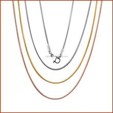 stainless steel snake chains for floating locket pendants