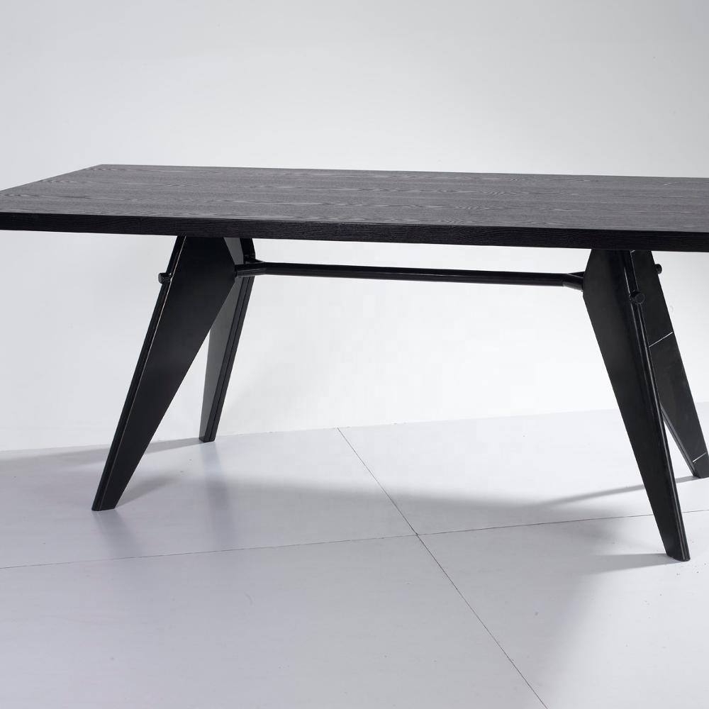 reproduction furniture black jean prouve em table modern dining prouve em table for dining room on sale
