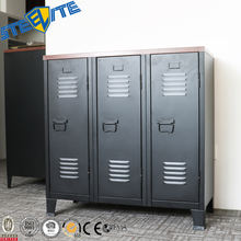 Industrial Metal Entrance Cupboard/Steel Household Shoe Storage Cabinet With 3 Door