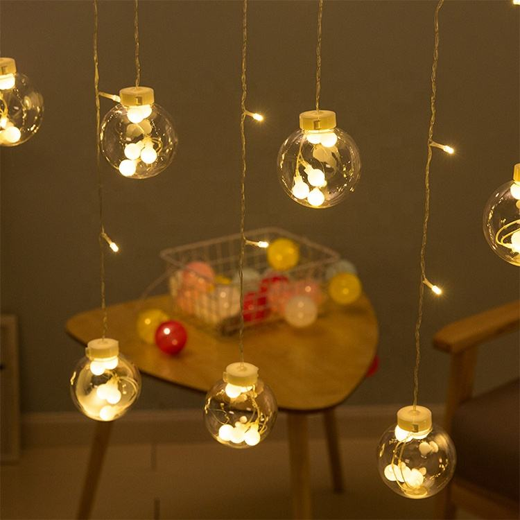 Garden home wedding christmas decoration LED curtain string lights outdoor indoor