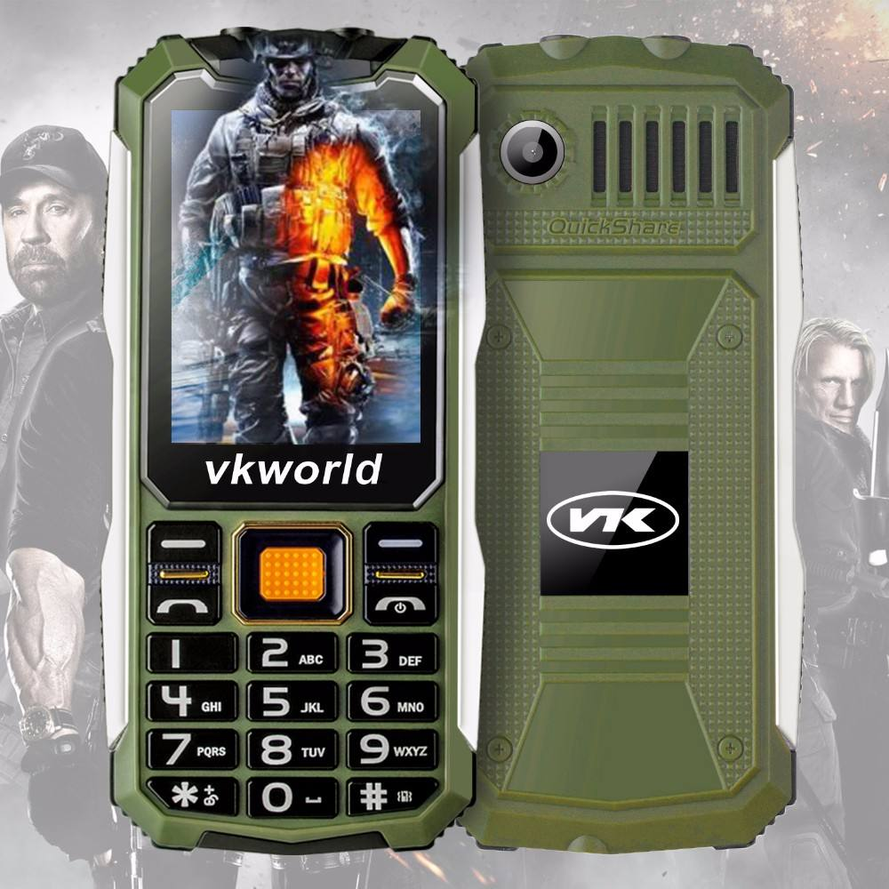 Dual Sim Mobile Phone mit Voice Changer Vkworld Stone V3S <span class=keywords><strong>Quad</strong></span> Band Waterproof IP68 2.4 zoll Unlocked Cheap Cell Phone
