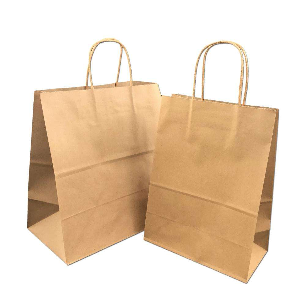 Custom Bakery Food Packaging Brown Craft Kraft Paper Bags from small business packing supplies