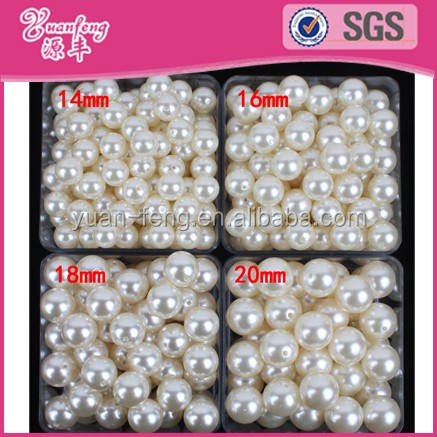 Plastic Bead Factory Wholesale 16mm Pearl Round Beads