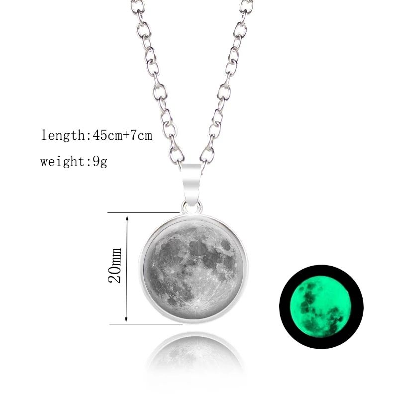 Daihe Custom Moon star light necklace 316 stainless steel jewelry birthday gift for girl boy friend