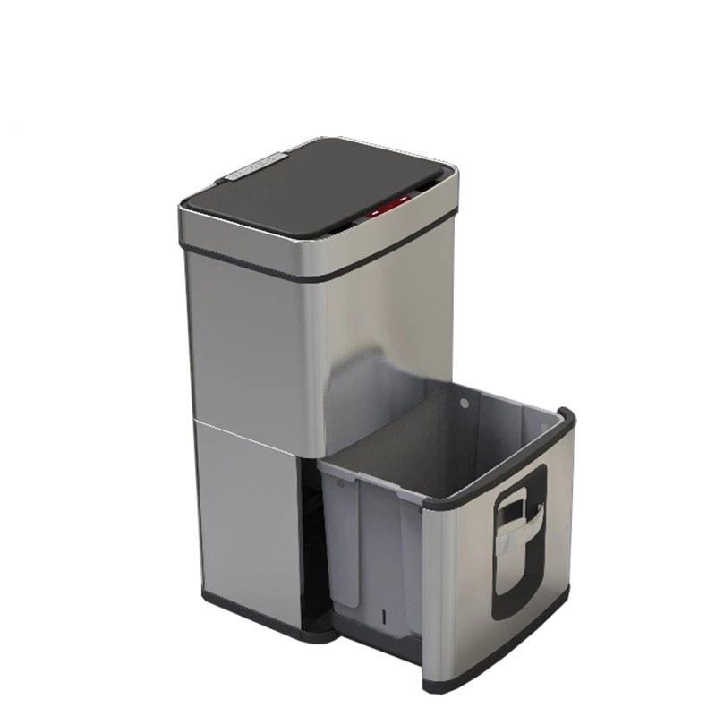 2019 Big stainless steel 3 compartment waste bin bokashi for smart home