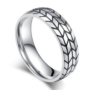 Yiwu Meise 2019 Personalized tire stainless steel men's rotating ring