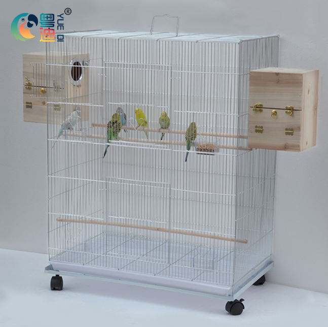 423-antique sliver color with vietnam chrome breeding bird cage