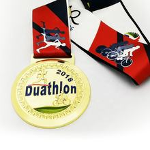 High quality custom embossed marathon duathlon metal 3D sport running medal professional producer zhongshan