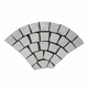 Cheap Driveway Curved Fan Shape Granite Paving Stone