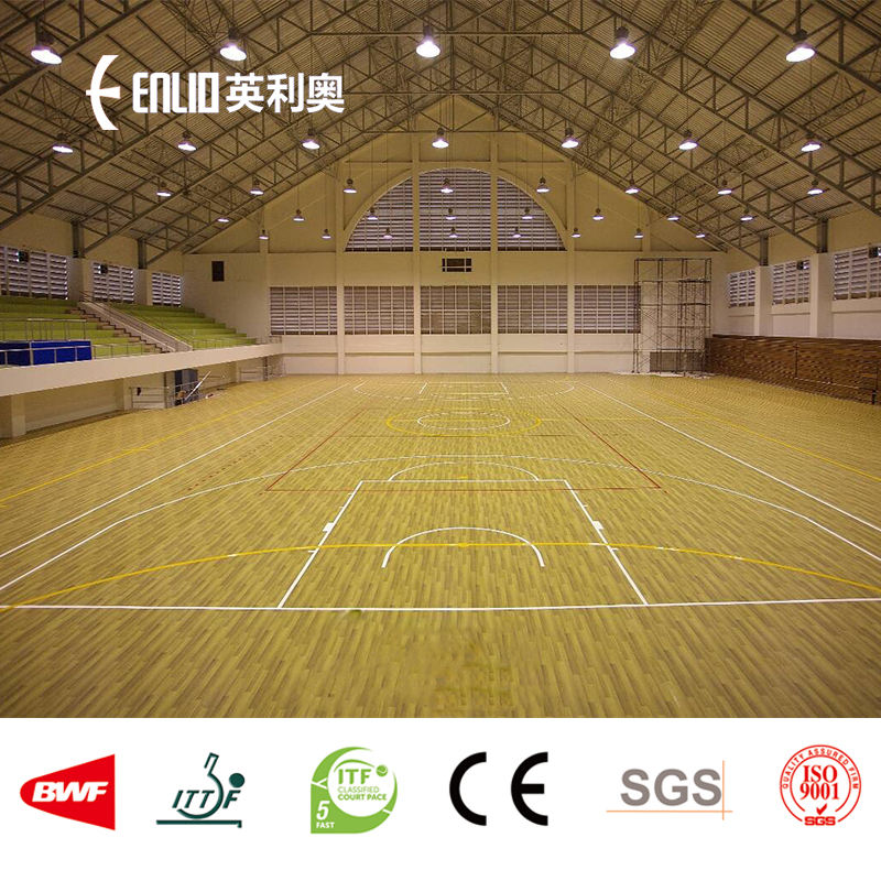 Maple wood surface basketball sports floor for indoor basketball