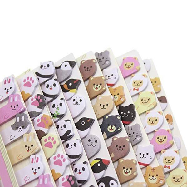 Cute Animal Sticker Bookmark Marker Memo Flags Index Tab Sticky Note Pads