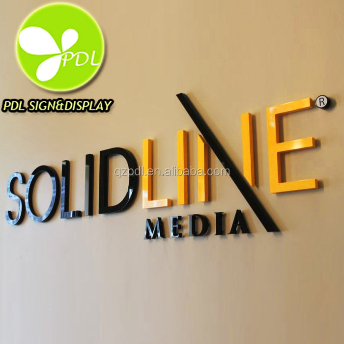 Flat Laser Cut 3D Acrylic Letters Sign & Logos For Custom Lobby Signs