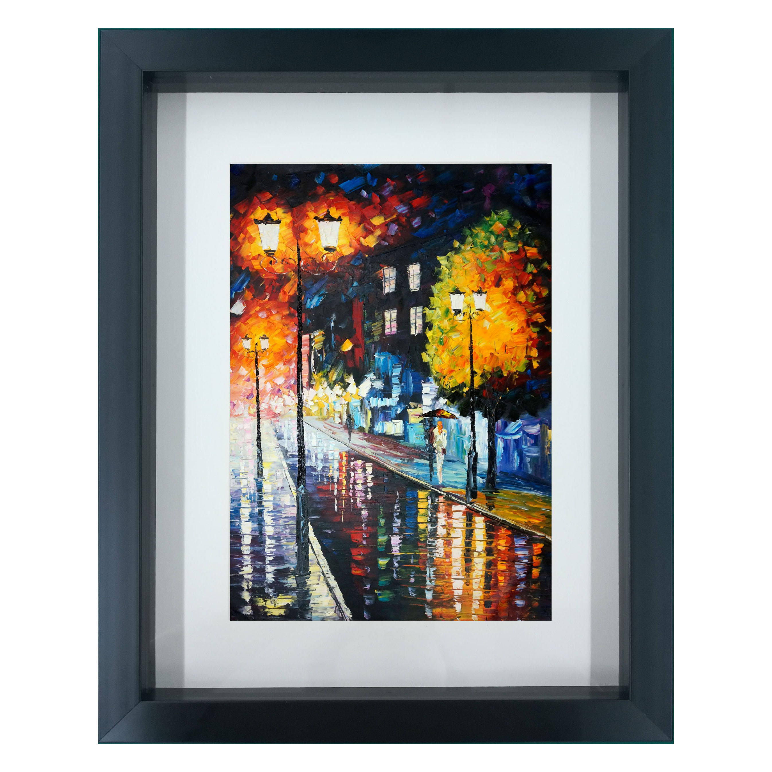 Custpmized HD Art Frame Picture on Canvas With PS Material 3D Shadow Box Frame Picture