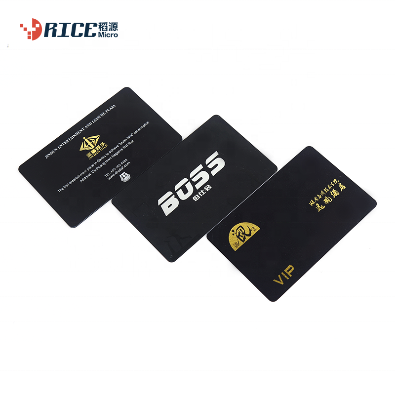 Rice Micro 13.56MHZ contactless rfid white black id card for access control/the member of party