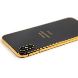 Custom 24kt gold for iphone x housing wireless charger black back glass