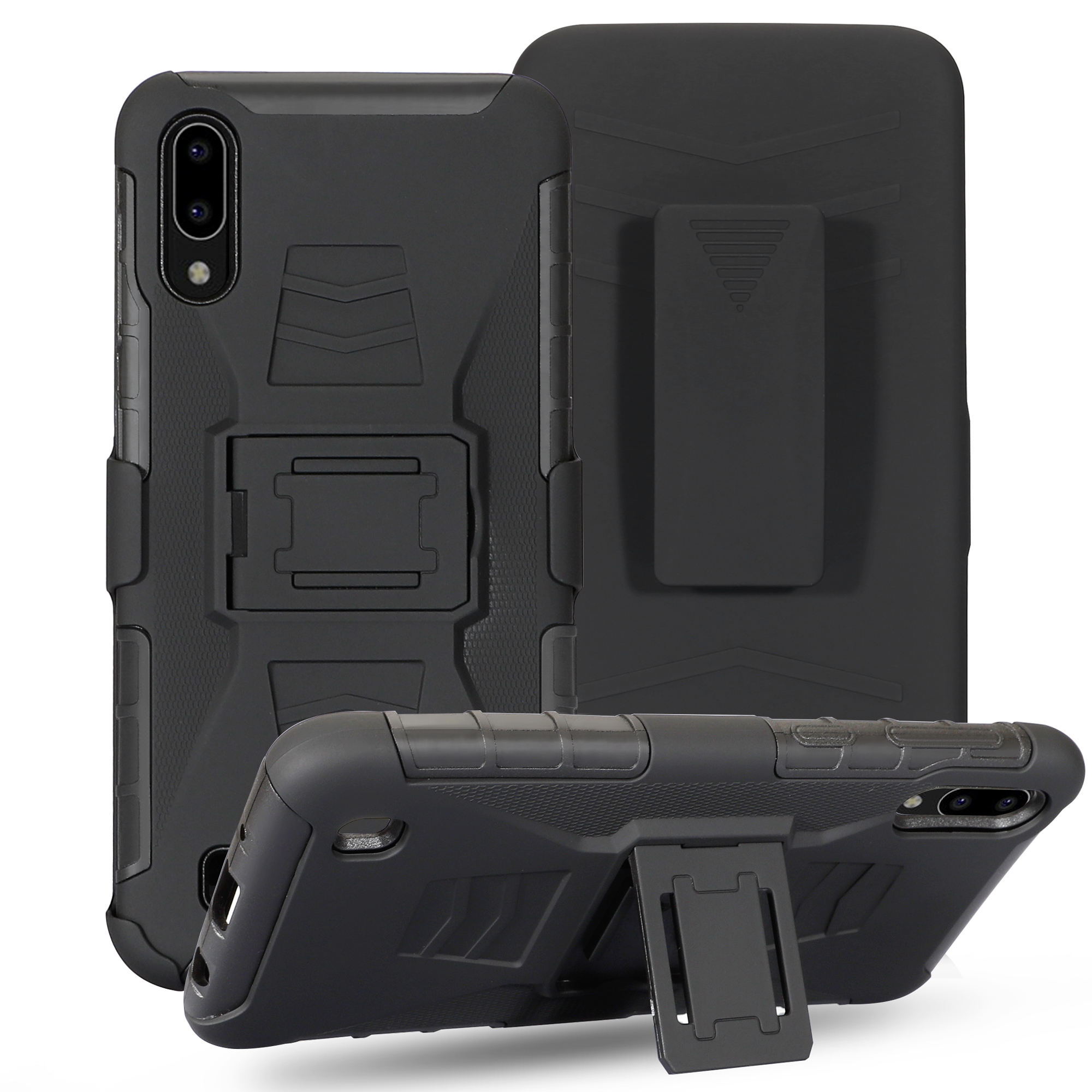 360 Full Body Rugged Phone Cover for Apple iPhone Xs max Xr Cases Robot , Robot Armor Phone Case for Samsung S10 Plus S9 Note 9
