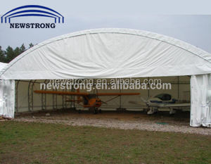 Prefabricated Trussed Steel Frame PVC Aircraft Hangar