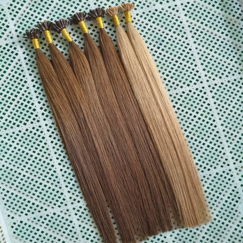 Long hair last Russian hair keratin I tip Flat Tip U tip hair extension
