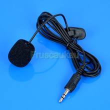 150cm Clip Microphone Black Hands On Mini Lapel 3.5mm Collar Clip Mic For PC Notebook Laptop