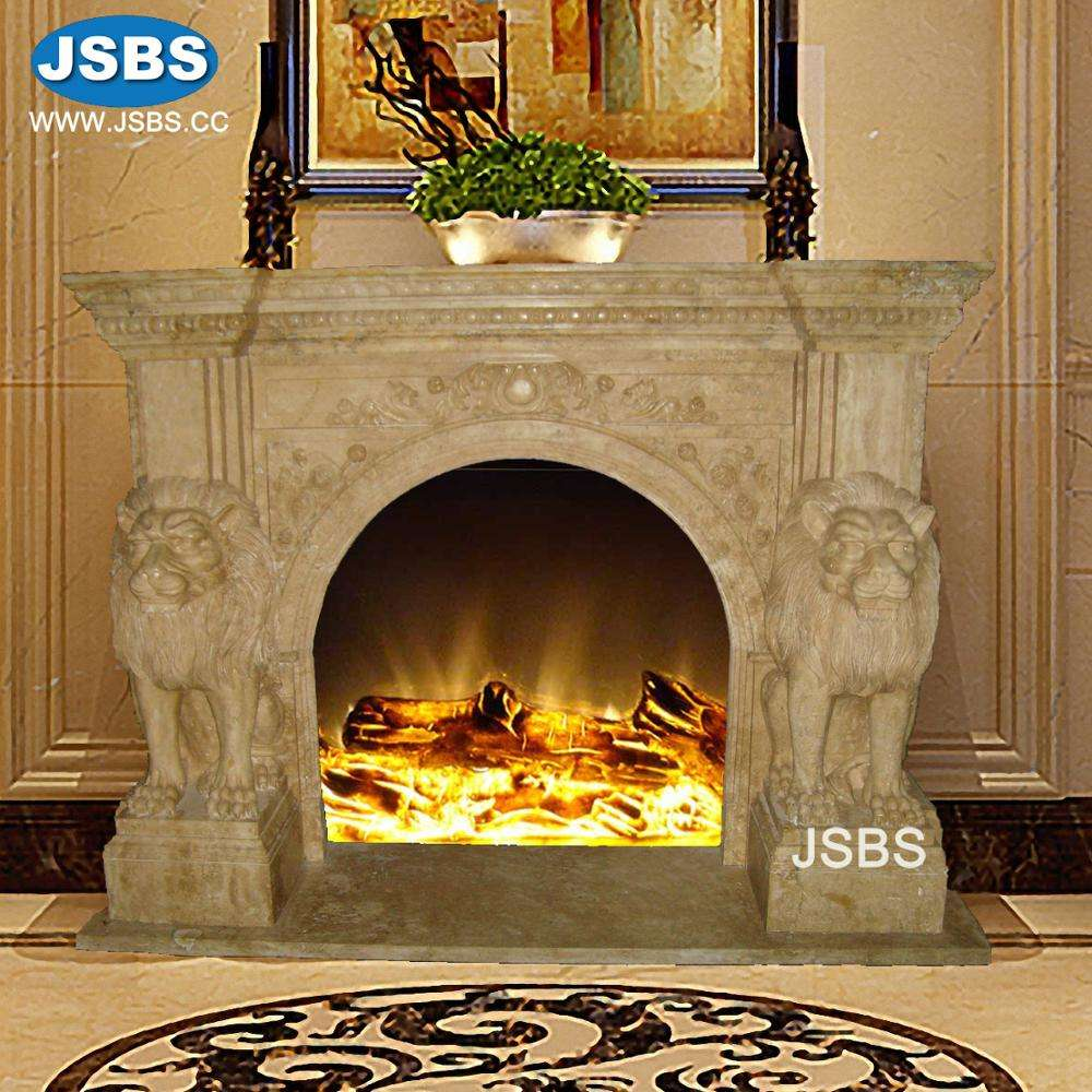 supply custom designed hand carved marble fireplace mantel with lion