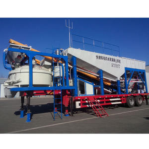 Mobile Truck Mounted Cement Silo Concrete Batching Plant