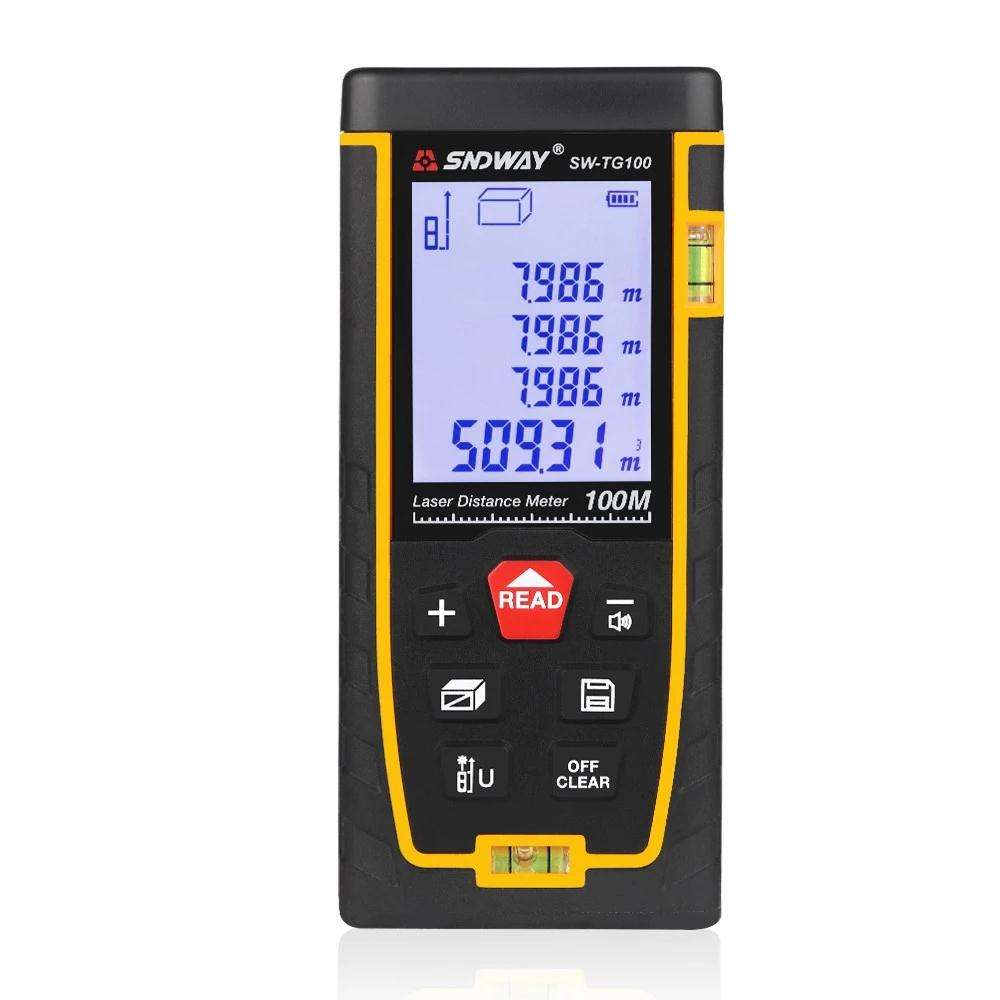 SW-TG100 Handheld Multi-functiona 0.05-100m mini laser distance meter 100m Accurate measurement