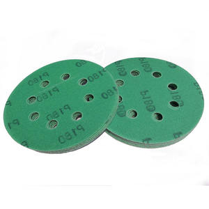 5 inch 8 holes Round Sand Paper Abrasive Green Polyester Film Zircon Sandpaper Disc for Polishing Metal
