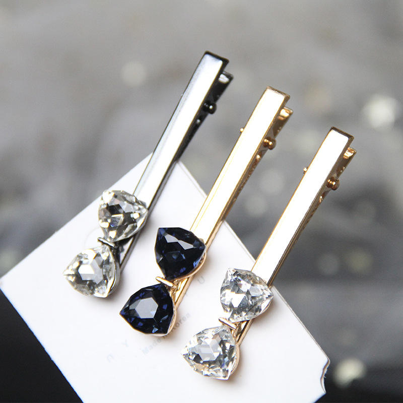 Special Offer Vintage Rhinestone Ribbon Bow Alligator Hair Pins Women Girl Golden Big Crystal Bowknot Hair Clips