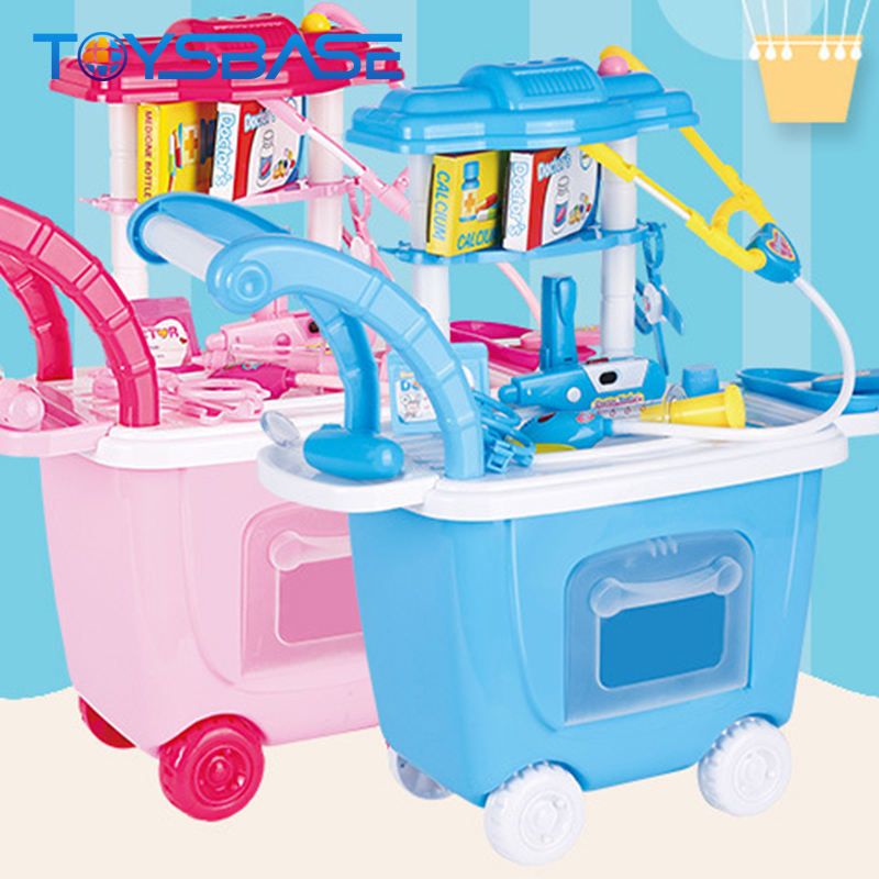 Wholesale Pretend Play Doctor Game Trolley Medical Toy Set