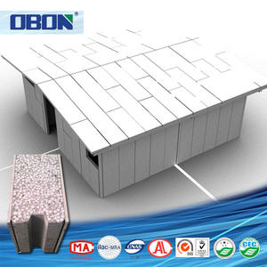 OBON fast assembly eps sandwich cement panel modular prefabricated house
