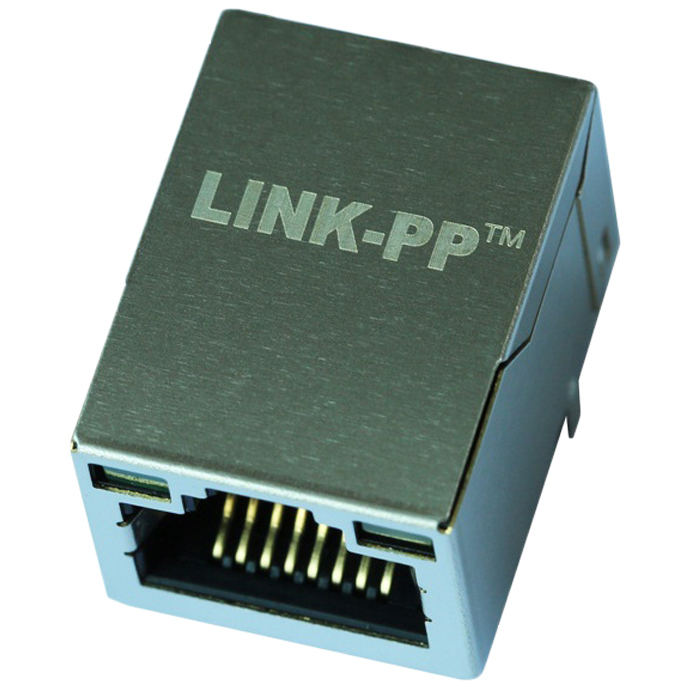 6605808-6605808-1/10/100 Base-T Tab UP con Leds 8 Pin Ethernet RJ45 conector hembra