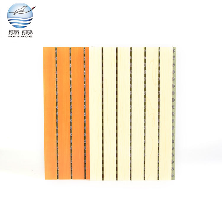 Customized decorative sound absorption / absorbing wall mdf wooden moistureproof acoustic panel