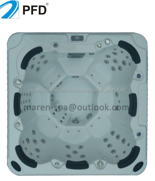 アクリル素材と自立型屋外ドア設置型の携帯用温水浴槽
