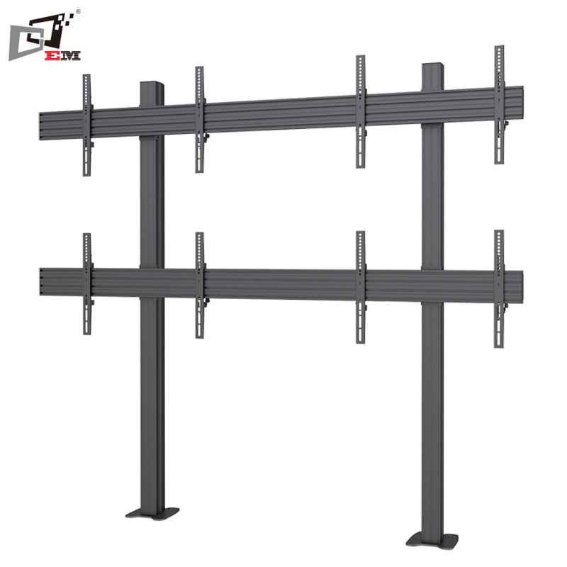 General Use Commercial TV Stand Support 2X2 Flat Panel LED TV Stand Design