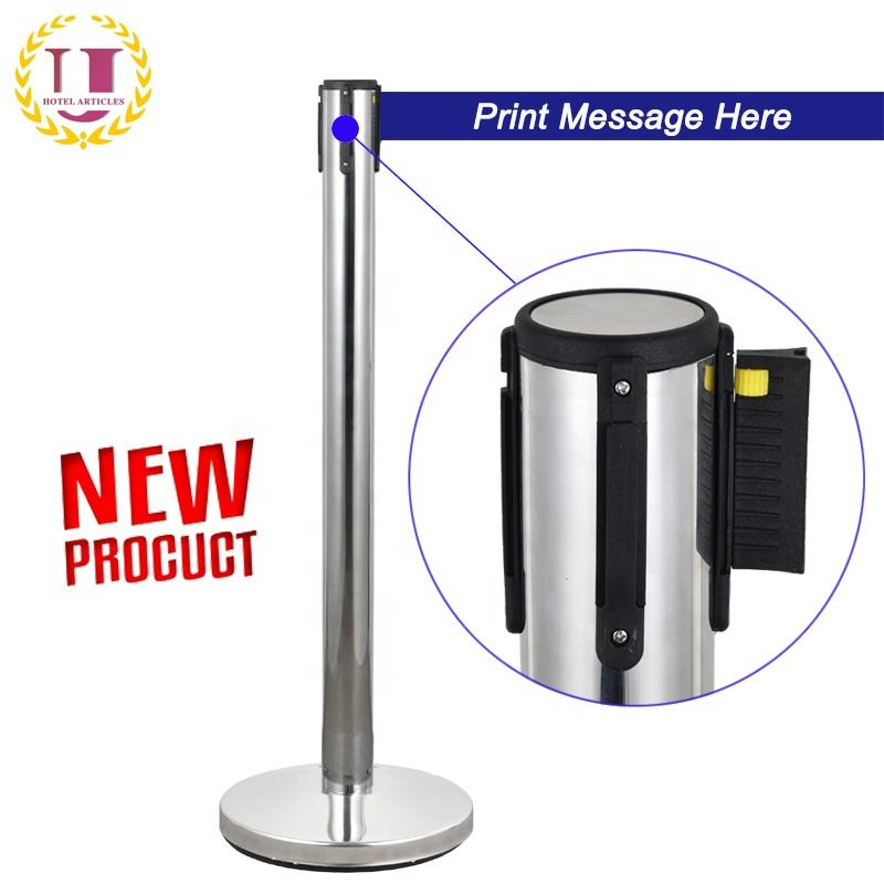 New Product Stainless Steel Crowd Control Queue Pole Barriers