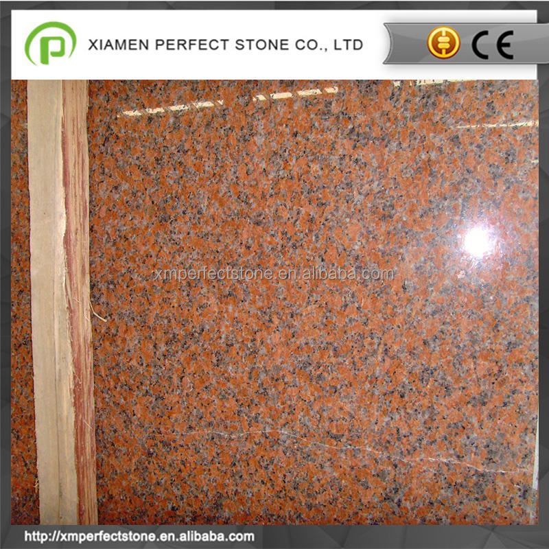 China maple red granite tiles  slabs polished flamed prices